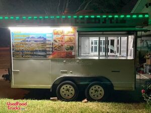 2018 7' x 12' Ready for Street Action Mobile Kitchen Food Concession Trailer.