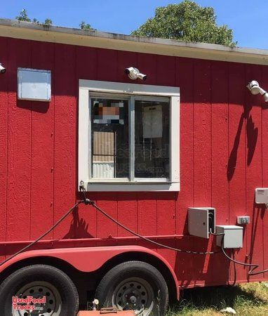 2005 - 8' x 24' BBQ Smoker Trailer with Porch / Snowball Concession Trailer.