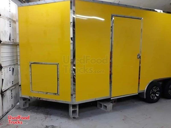 Beautiful Full Featured 8.5' x 16' V-Nose Food Concession Trailer.