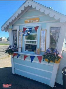 CUTE Turnkey Ready Snow Cone Shack / Used Shaved Ice Concession Stand.