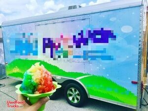 Ready for Business Snowball Trailer / Used Shaved Ice Concession Trailer.