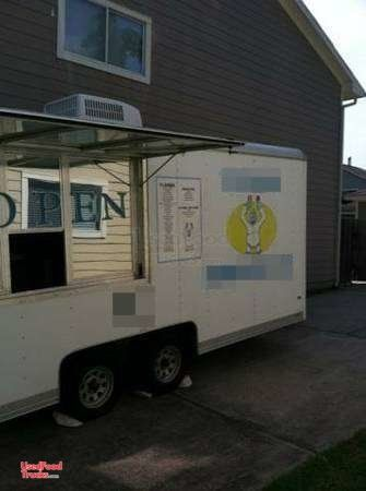 2008 Wells Cargo 5' x 16' Licensed Shaved IceConcession Trailer / Snowball Stand.