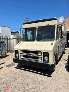 Self-Sufficient Loaded GMC P3500 25' Step Van Kitchen Food Truck.