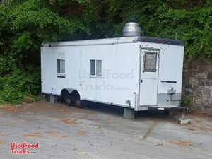2003 Cargo Craft 8' x 24' Mobile Kitchen / Used Food Concession Trailer.