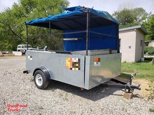 Used 2017 - 7' x 9.75' Food Concession Trailer / Mobile Street Food Vending Unit.