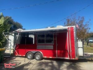 2016 - 8' x 16' Kitchen Barbecue Food Concession Trailer w/ Screened Porch.