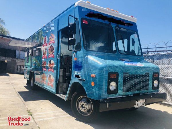 Lightly Used 18' GMC Step Van Kitchen Food Truck with Pro Fire Suppression System.