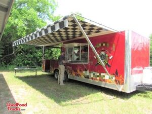 2016 Covered Wagon 8' x 24' Kitchen Food Concession Trailer with 10' Porch.