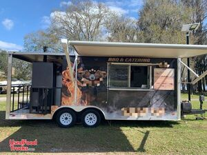 2019 Freedom 8.5' x 20' Barbecue Food Concession Trailer with Porch.