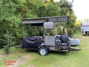 Open BBQ Smoker Grill / Crawfish Crab Seafood Boil Tailgating Trailer.