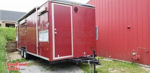 24' Wells Cargo Mobile Rotisserie Kitchen / Used Barbecue Concession Trailer.