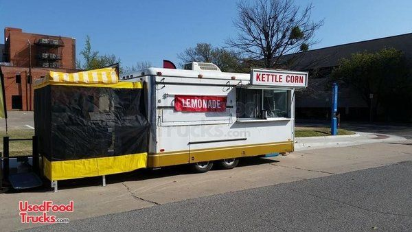 Used 8' x 16' Food Concession Trailer / Clean and Spacious Mobile Food Unit.