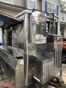 All Stainless Steel 2000 5' x 8' Food Concession Trailer with Pro Fire System.