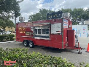 2015  - 7.2' x 20' Barbecue Pit Concession Trailer / Mobile Kitchen.