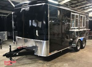 NEW 2021 7' x 16'  Food Concession Trailer Electric Mobile Kitchen.