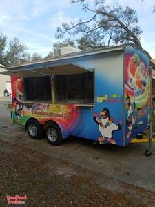 2014 - 6.5' x 14' Shaved Ice Concession Trailer / Mobile Snowball Business.