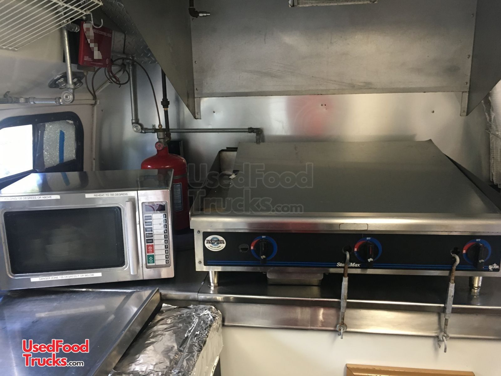 25 Ford E350 Diesel Kitchen Food Truck With Pro Fire
