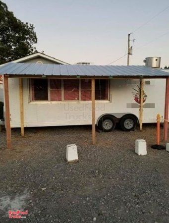 Kitchen Food Concession Trailer / Mobile Food Unit Working Condition.