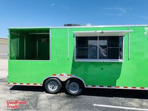 2018 - 8' x 22' BBQ Concession Trailer / Mobile Kitchen with Porch.