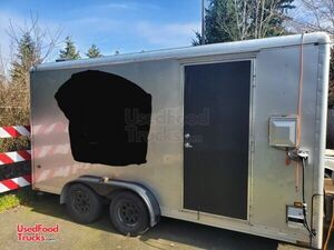 Licensed 2001 8.5' x 16' Wells Cargo Coffee Concession Trailer.