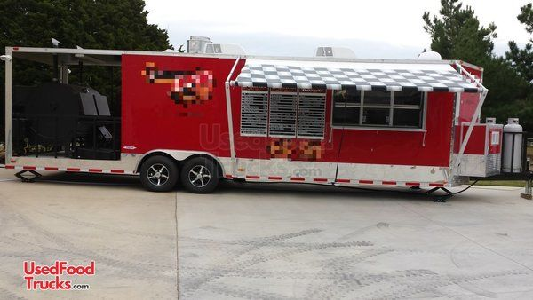 2014 Freedom Trailers 8.5' x 30' Barbecue Food Trailer/Mobile Food Unit.