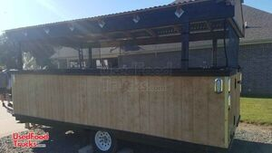 2020 - 7' x 14' Pop Up Outdoor Kitchen Food Concession Trailer.