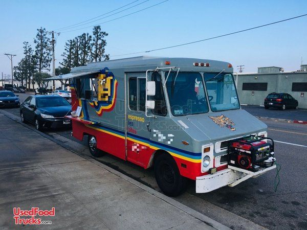 Permitted Chevrolet P30 16' Step Van Espresso Coffee Truck Mobile Cafe.