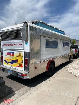 Used Chevrolet Step Van Kitchen Food Truck with Pro Fire Suppression System.