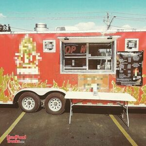 Used Mobile Kitchen Food Concession Trailer with Pro Fire Suppression System.