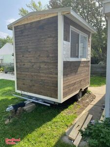 Newly Built 2020 6' x 9' Solar-Powered Empty Street Food Concession Trailer.