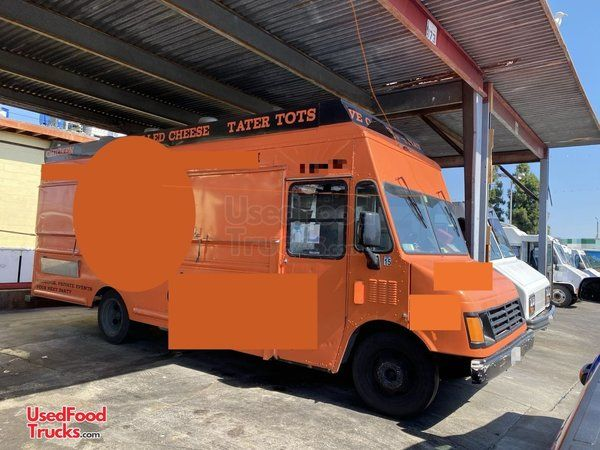 Well-Maintained Used GMC P30 28' Step Van Kitchen Food Truck.