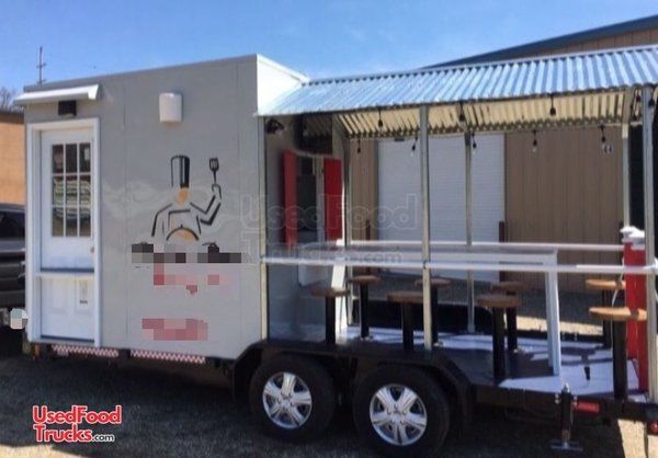 2018 - 8.5' x 18' Food Concession Trailer with Porch.