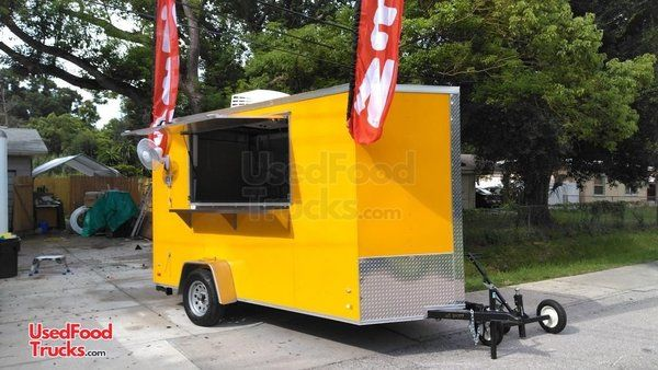 6' x 12' Snowcone & Hotdog Concession Trailer/Shaved Ice Concession Stand.
