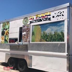 2017 8' x 16' Kitchen Food Concession Trailer with Pro Fire Suppression.