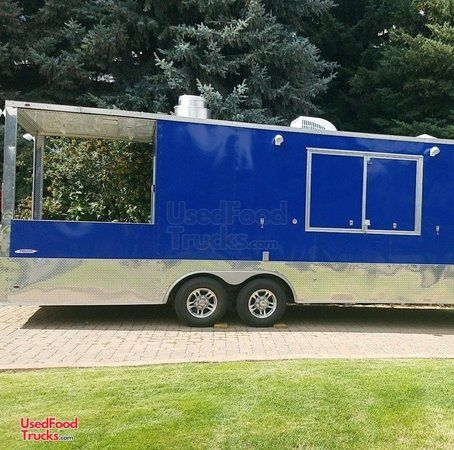 2017 - 8.5' x 24' Freedom Barbecue Food Concession Trailer with Porch / BBQ Pit.