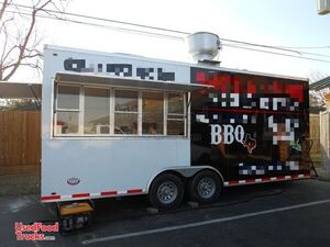 2010 - 8.5' x 20' Mobile Kitchen Food Concession Trailer w/ Stainless Steel Equipment.