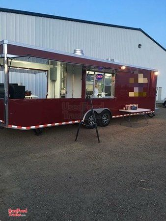Turnkey Ready 2016 - 32' BBQ Concession Trailer with Porch / Barbecue Rig.