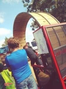 Giant Hamster Wheel Sno Cone Machine with 6' x 12' Enclosed Diamond Cargo Trailer.