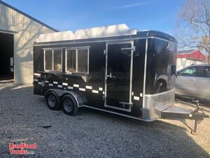 BRAND NEW for 2021 7' x 16' Mobile Kitchen Concession Trailer.