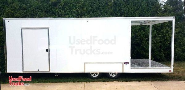 Amazing 2016 30' Catering and Kitchen Food Trailer with a 6' Porch.