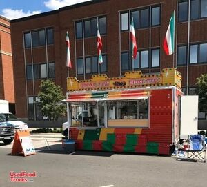 Ready for Action 8' x 16' Street Food Mobile Kitchen Concession Trailer.