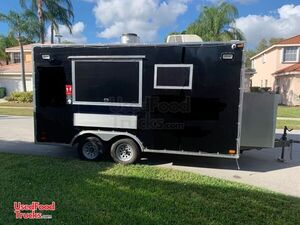 Loaded 2019 United 8' x 16' Commercial Kitchen Food Concession Trailer.