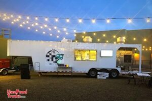 Fully-Loaded 2012 Barbecue Concession Trailer / Used BBQ Rig w/ Porch.