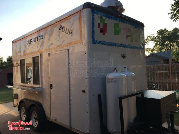 Wells Cargo 8' x 14' Kitchen Food Trailer/Used Mobile Food Unit.