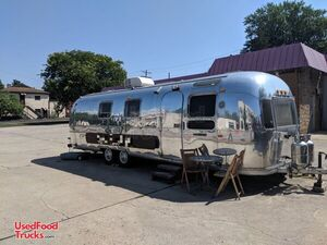Vintage Airstream Mobile Coffee Shop Concession Trailer.
