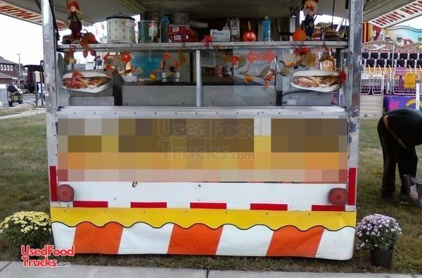 Used Food Concession Trailer with Ford E-350 Box Truck / Mobile Food Unit.