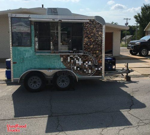 Terrific 2016 7' x 10' Cargo Expedition Coffee Concession Trailer / Used Mobile Cafe.