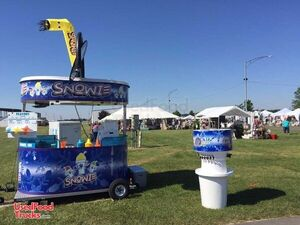 Snowie Shaved Ice Concession Trailer / Ready to Use Mobile Snowball Trailer.