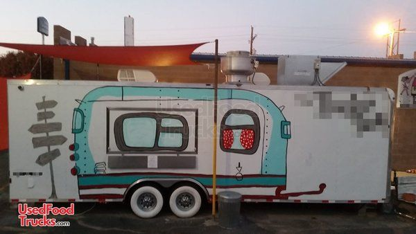 2014 - 8' x 28' Homesteader Champion Mobile Kitchen Food Concession Trailer.