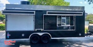 Well-Maintained 2019 - 8' x 25' Professional Kitchen Food Concession Trailer.